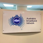NBN 3D backlit logo