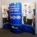 Geo backwall graphics