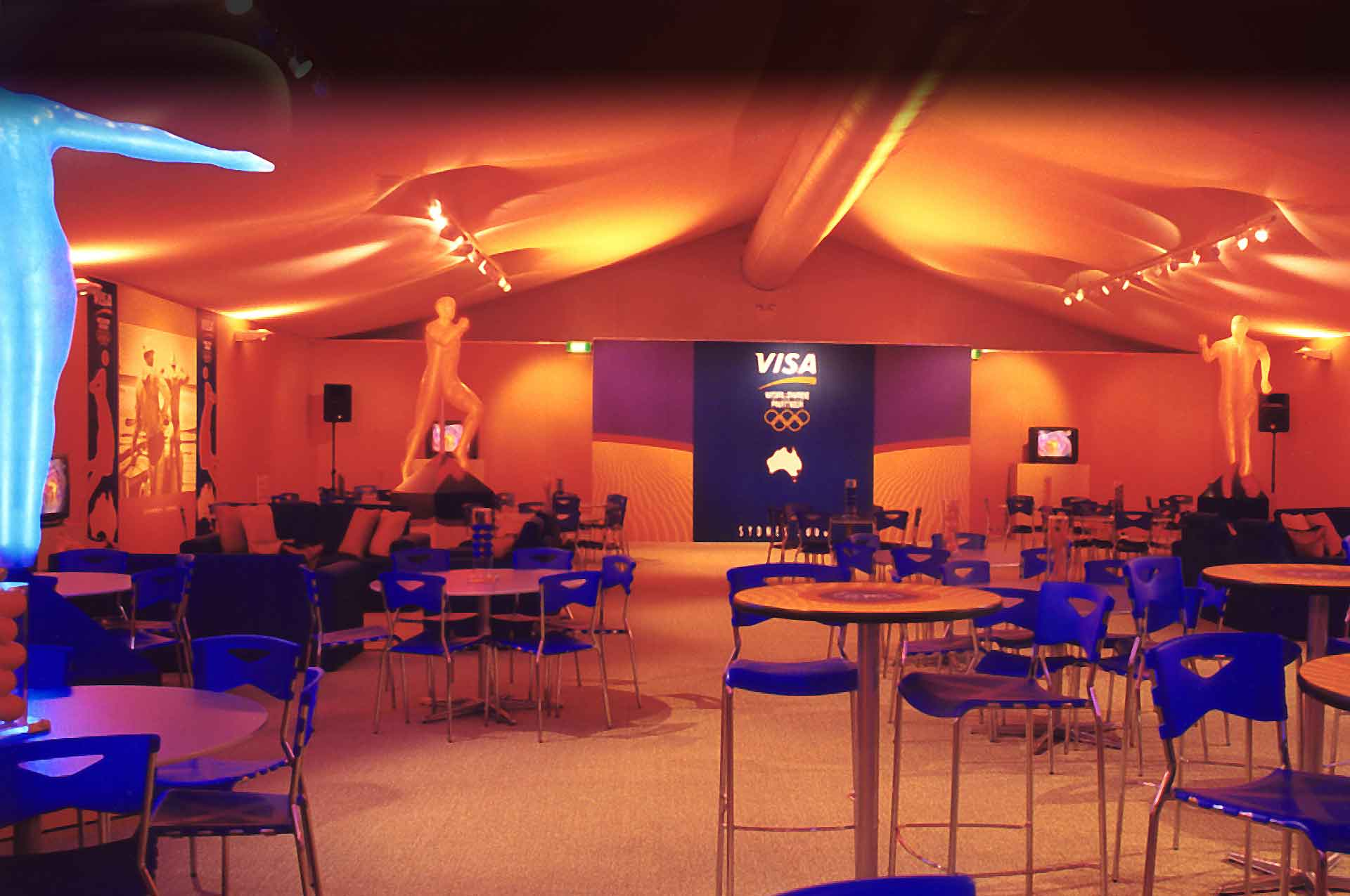 Visa International corporate tent