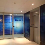 AAPT glass door logo