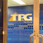 TPG glass door logo