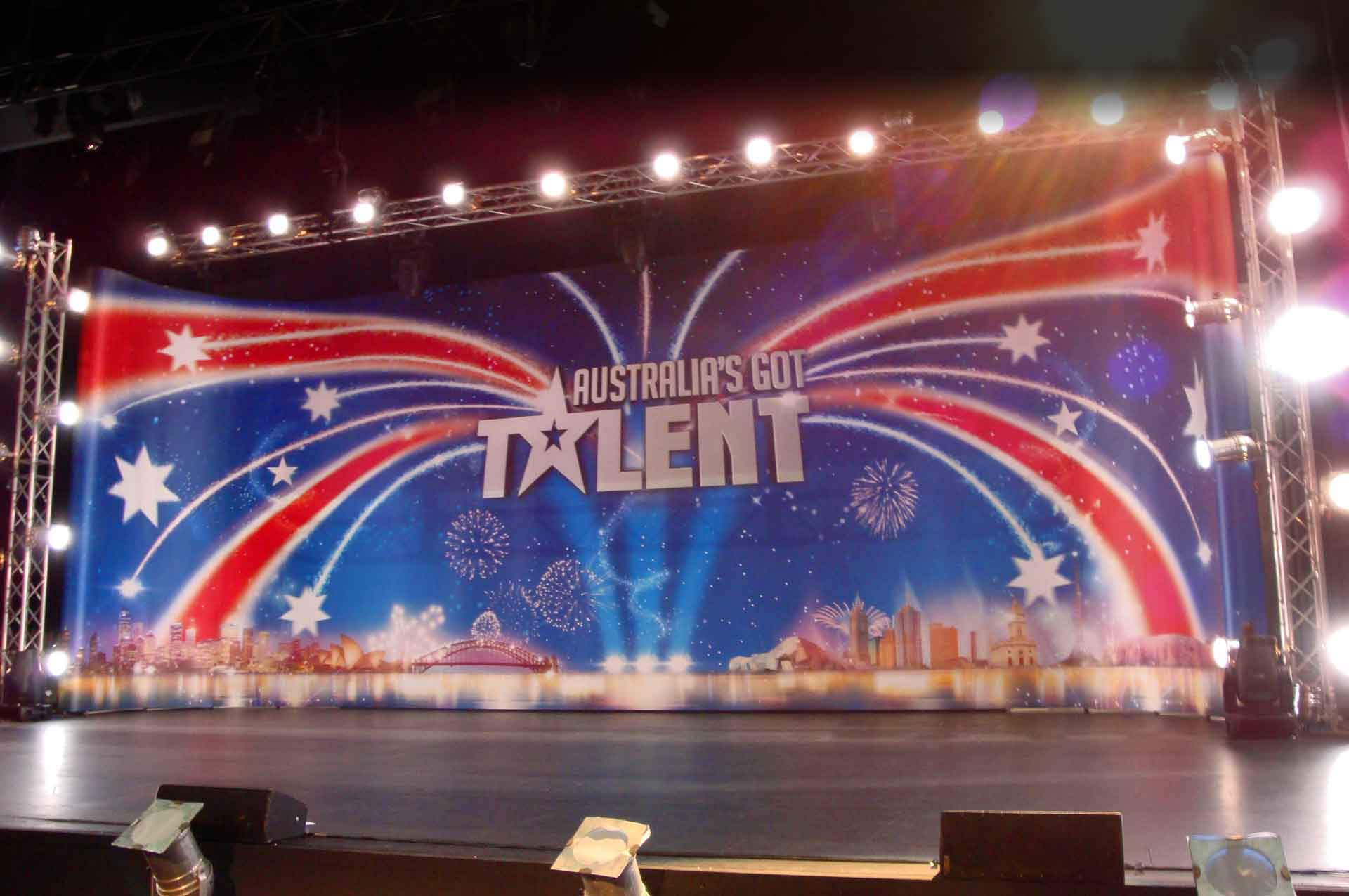 Australia's Got Talent stage set
