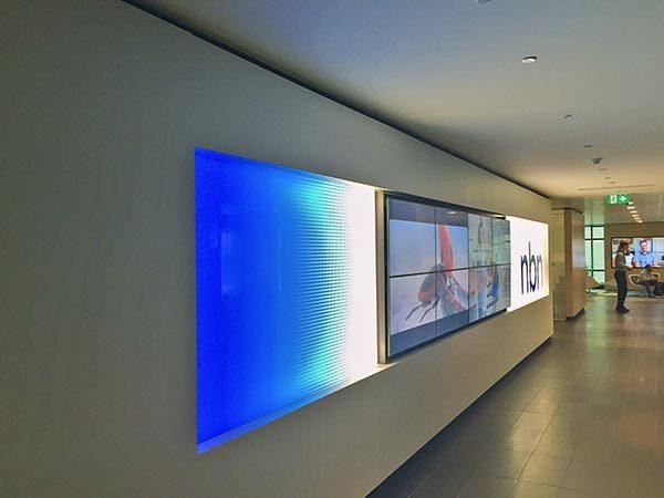 NBN Lift lobby wall
