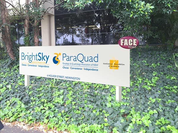 ParaQuad in-ground sign